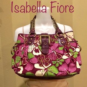 🌸NWOT Isabella Fiore XL beaded purse.